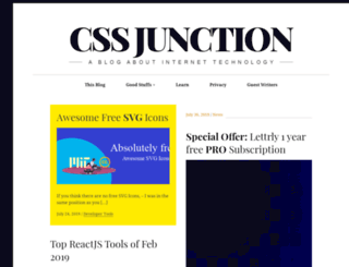 cssjunction.com screenshot