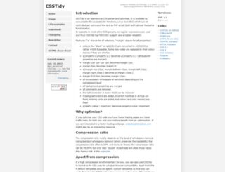 csstidy.sourceforge.net screenshot