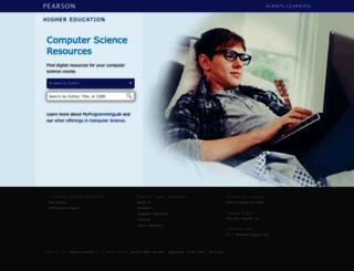 cssupport.pearsoncmg.com screenshot