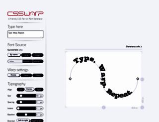csswarp.eleqtriq.com screenshot