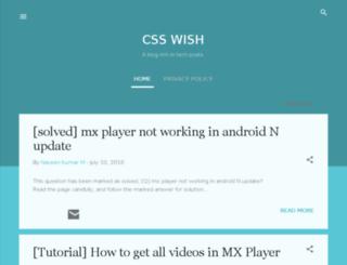 csswish.blogspot.com screenshot