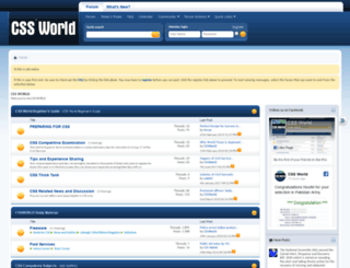cssworld.com.pk screenshot