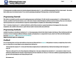 cstutoringcenter.com screenshot