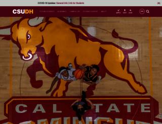 csudh.edu screenshot
