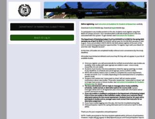 csulb-marketing.sona-systems.com screenshot