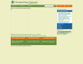 csunew.csuohio.edu screenshot