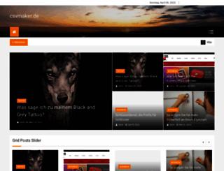 csvmaker.de screenshot
