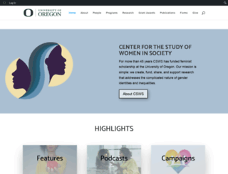csws.uoregon.edu screenshot