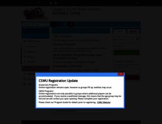 cswusoccer.powerupsports.com screenshot