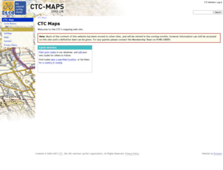 ctc-maps.org.uk screenshot