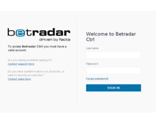 ctrl.betradar.com screenshot