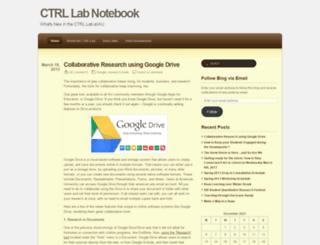 ctrlresearch.wordpress.com screenshot