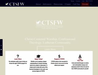 ctsfw.edu screenshot