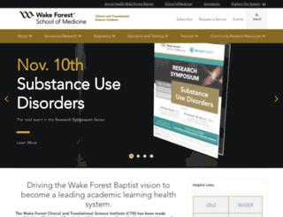 ctsi.wakehealth.edu screenshot