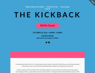 ctznkickback.splashthat.com screenshot