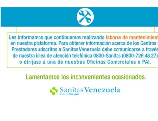 cuadromedico.sanitasvenezuelaemp.com screenshot