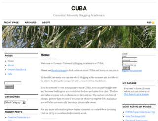 cuba.coventry.ac.uk screenshot