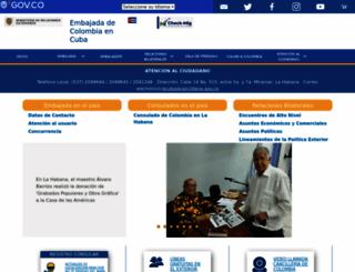 cuba.embajada.gov.co screenshot