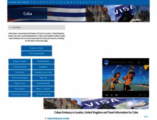 cuba.embassyhomepage.com screenshot