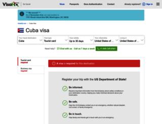 cuba.visahq.com screenshot