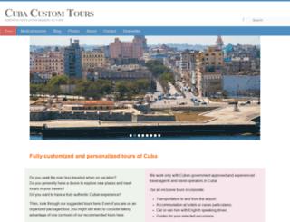cubacustomtours.com screenshot