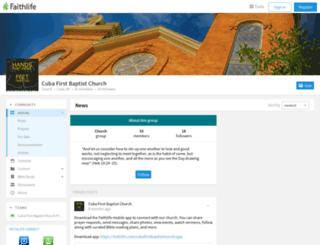 cubafirstbaptist.org screenshot