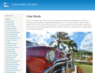 cubahotelsvacation.com screenshot