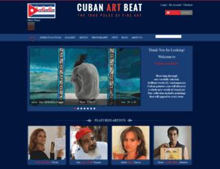 cubanartbeat.com screenshot