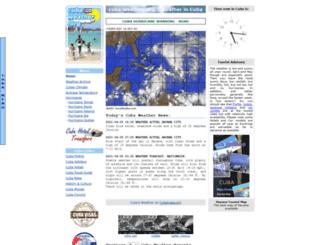 cubaweather.org screenshot