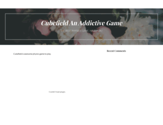 cubefield2.com screenshot