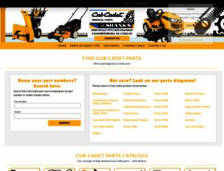 cubparts.com screenshot