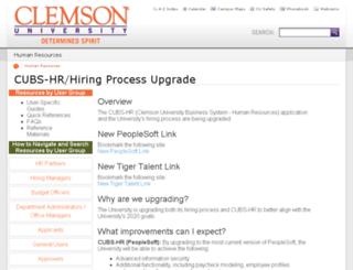 cubshr9e-clemson-edu.careerliaison.com screenshot