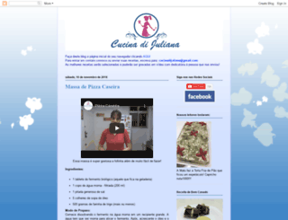 cucinadijuliana.com.br screenshot
