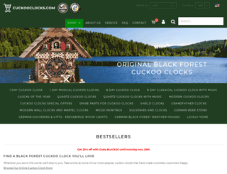 cuckooclocks.com screenshot