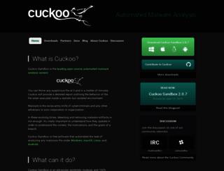 cuckoosandbox.org screenshot