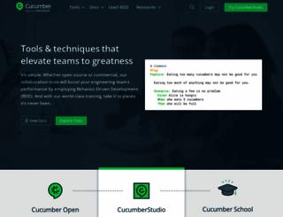 cucumber.io screenshot