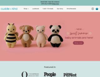 cuddleandkind.com screenshot