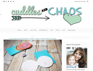 cuddlesandchaos.com screenshot