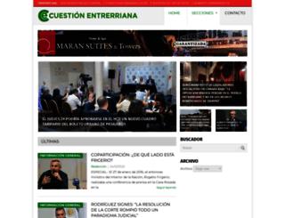 cuestionentrerriana.com.ar screenshot