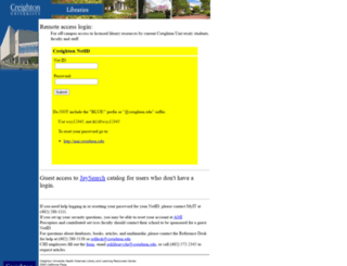 cuhsl.creighton.edu screenshot
