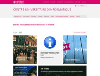 cui.unige.ch screenshot