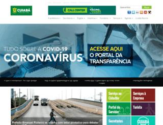 cuiaba.mt.gov.br screenshot