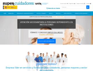 cuidadores.unir.net screenshot