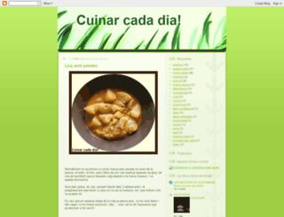 cuinarcadadia.blogspot.com screenshot