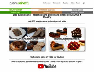 cuisine-saine.fr screenshot