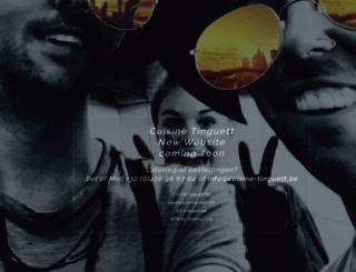 cuisine-tinguett.be screenshot