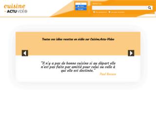 cuisine.actu-video.com screenshot