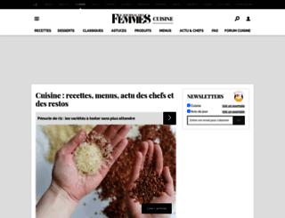cuisine.journaldesfemmes.com screenshot