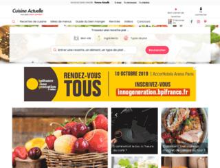 cuisineactuelle-mail.com screenshot