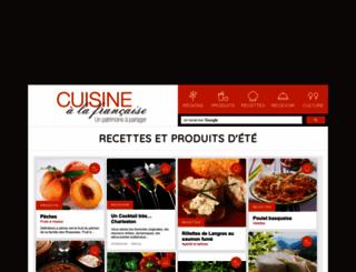 cuisinealafrancaise.com screenshot
